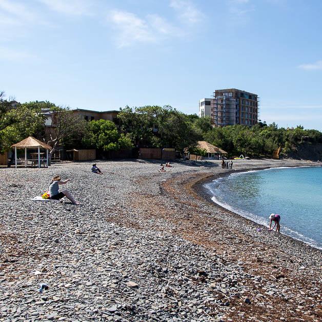 Пляж на Утрише фото