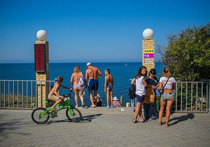 Пляж санатория Малая бухта Анапа