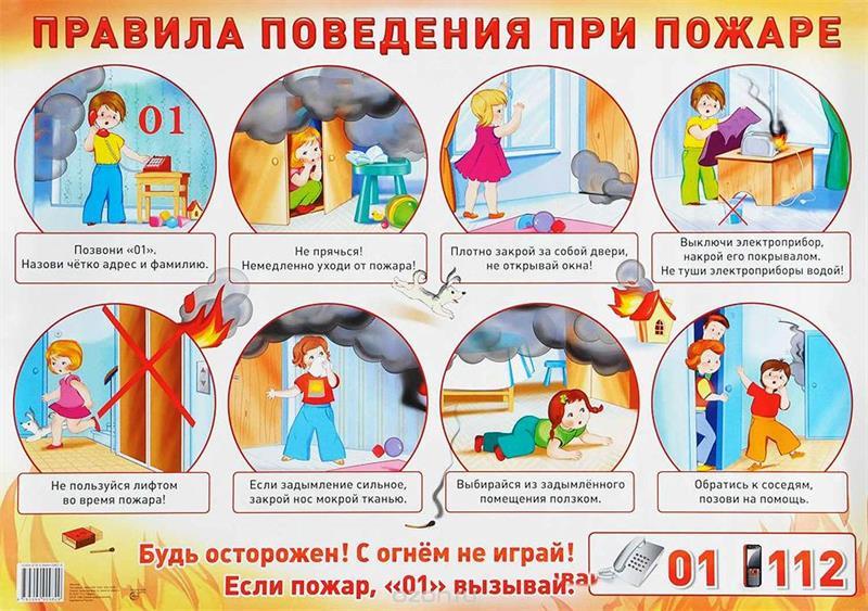 Правила при пожаре